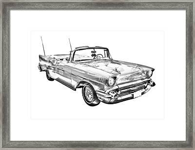 1957 Chevrolet Bel Air Convertible Illustration Framed Print by Keith Webber Jr