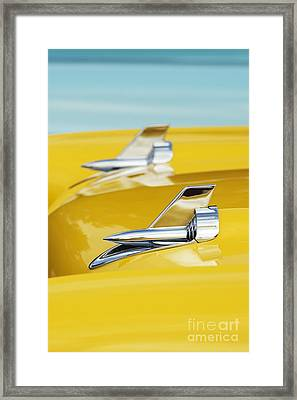 1957 Chevrolet Bel Air Hood Rockets Framed Print