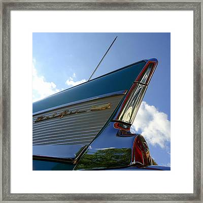 1957 Chevrolet Bel Air Fin Framed Print