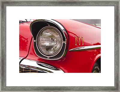 1957 Chevrolet Bel Air Headlight Framed Print by Glenn Gordon