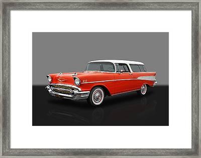1957 Chevrolet Bel Air Nomad Framed Print by Frank J Benz