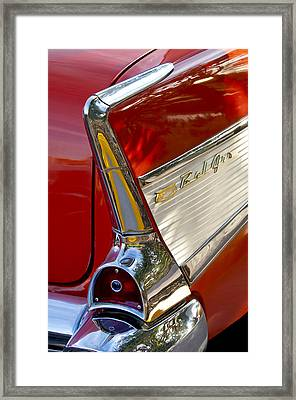 1957 Chevrolet Belair Taillight Framed Print by Jill Reger