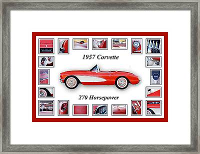 1957 Chevrolet Corvette Art Framed Print by Jill Reger
