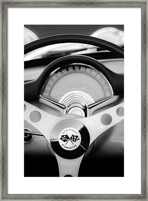 1957 Chevrolet Corvette Convertible Steering Wheel 2 Framed Print by Jill Reger