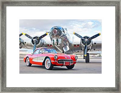 1957 Chevrolet Corvette Framed Print