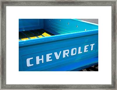 1957 Chevrolet Pickup Truck Emblem Framed Print by Jill Reger