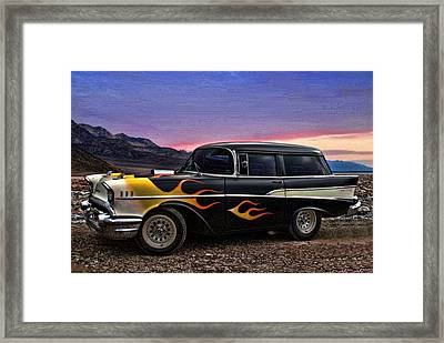 1957 Chevrolet Shorty Wagon Framed Print by Tim McCullough