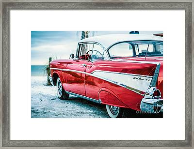 1957 Chevy Bel Air Framed Print by Edward Fielding