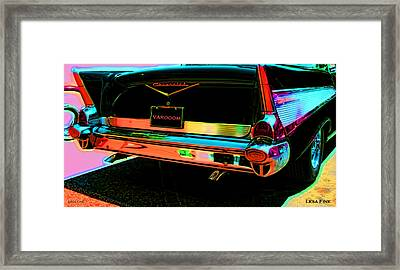 1957 Chevy Art Red Varooom Framed Print
