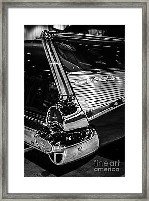 1957 Chevy Bel Air Tail Fin Framed Print by Paul Velgos