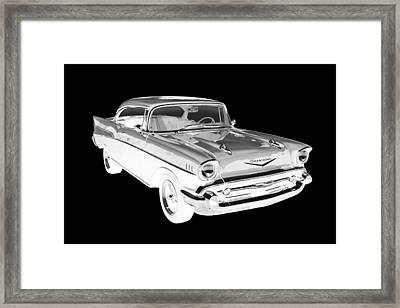 1957 Chevy Belair Car Art Framed Print by Keith Webber Jr