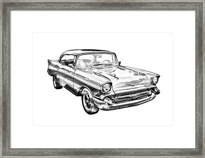 1957 Chevy Bel Air Illustration Framed Print