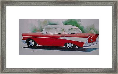 1957 Chevy Framed Print by John  Svenson