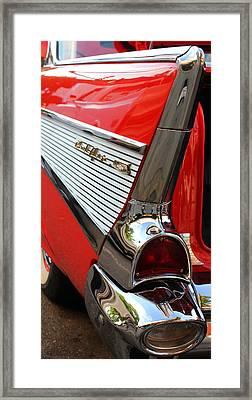1957 Chevrolet Bel Air Tail Fin Art Framed Print