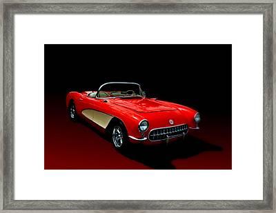 1957 Corvette Framed Print by Tim McCullough