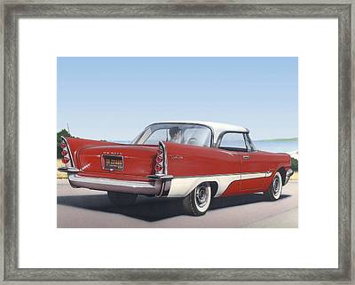 1957 De Soto Blank Greeting Card Framed Print by Walt Curlee