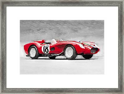 1957 Ferrari Testarossa Watercolor Framed Print