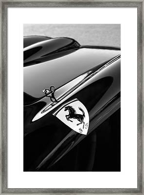 1957 Ferrari Tr 250 - 0714 Emblem -0379bw Framed Print