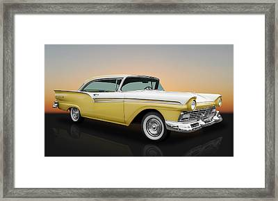 1957 Ford Fairlane 500 2 Door Hardtop Framed Print by Frank J Benz