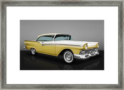 1957 Ford Fairlane 500 Framed Print by Frank J Benz