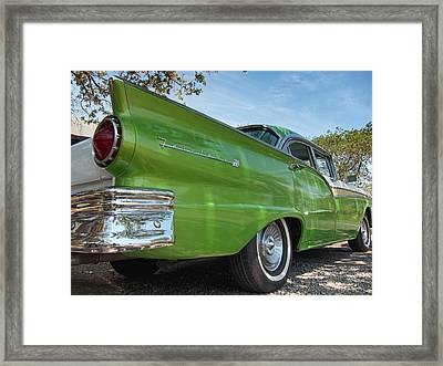 1957 Ford Fairlane 500 Framed Print by Mary Lee Dereske