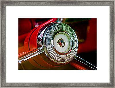 1957 Ford Fairlane Convertible Steering Wheel Emblem Framed Print