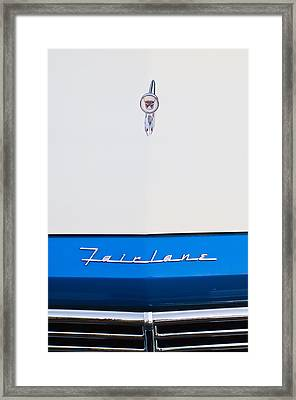 1957 Ford Fairlane Hood Ornament Framed Print