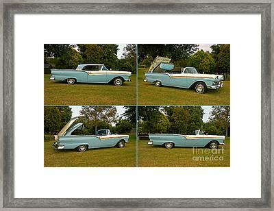 1957 Ford Skyliner Fairlane 500 Retractable Framed Print