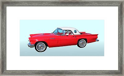 Old Car Framed Print featuring the photograph 1957 Ford Thunderbird  by Aaron Berg