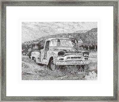 Ran When Parked Framed Print