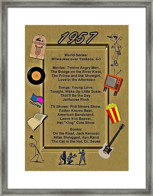 1957 Great Events Framed Print by Movie Poster Prints