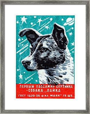 1957 Laika The Space Dog Framed Print