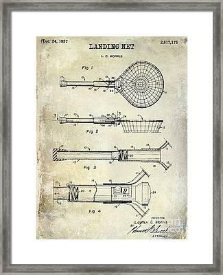 1957 Landing Net Patent Drawing Framed Print