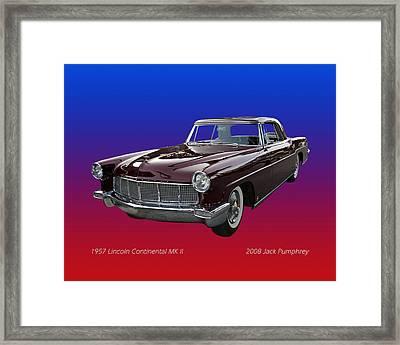 1957 Lincoln M K I I Framed Print by Jack Pumphrey