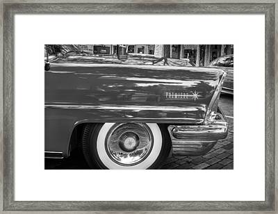 1957 Lincoln Premiere Coupe Painted Bw Framed Print