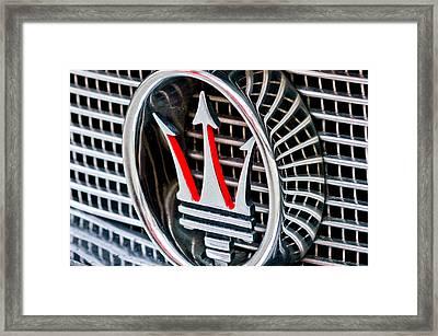 1957 Maserati Grille Emblem Framed Print