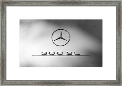 1957 Mercedes-benz 300 Sl Gullwing Emblem Framed Print