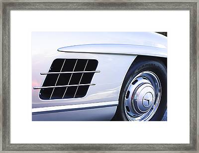 1957 Mercedes-benz 300 Sl Gullwing Wheel Emblem Framed Print
