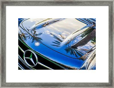1957 Mercedes-benz 300sl Grille Emblem -0167c Framed Print by Jill Reger