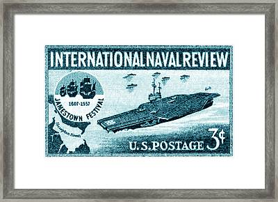 1957 Naval Review Stamp Framed Print by Historic Image