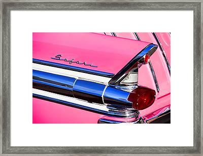 1957 Pontiac Safari Two-door Wagon Framed Print by Carol Leigh