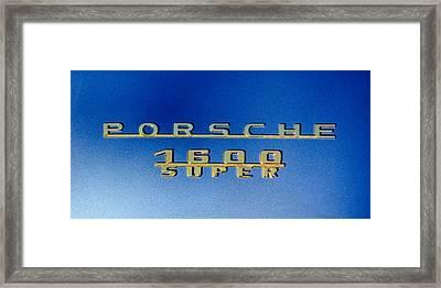 1957 Porsche 1600 Super Emblem -0562c Framed Print by Jill Reger