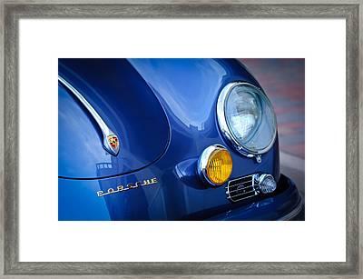 1957 Porsche Hood Emblem -0621c Framed Print