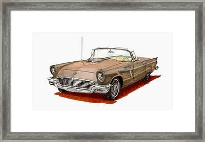 1957 Thunderbird Framed Print by Jack Pumphrey