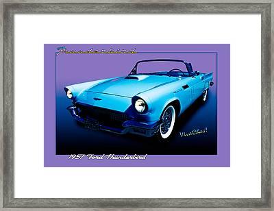 1957 Thunderbird Poster Framed Print