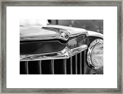 1957 Willys Wagon Grille Emblem Framed Print by Jill Reger