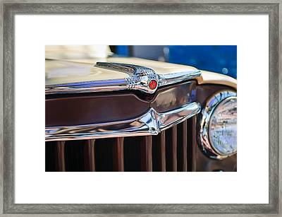 1957 Willys Wagon Grille Framed Print by Jill Reger