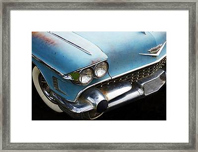 1958 Cadillac Sedan Deville Framed Print by Pamela Patch