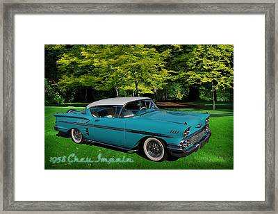 1958 Chev Impala Framed Print