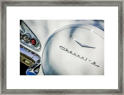 1958 Chevrolet Bel Air Convertible Taillight Emblem -0272c Framed Print